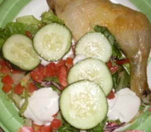 baked chicken & salad