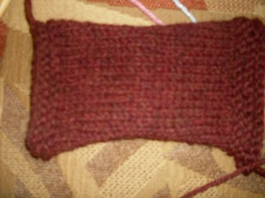 guage swatch for cardigan