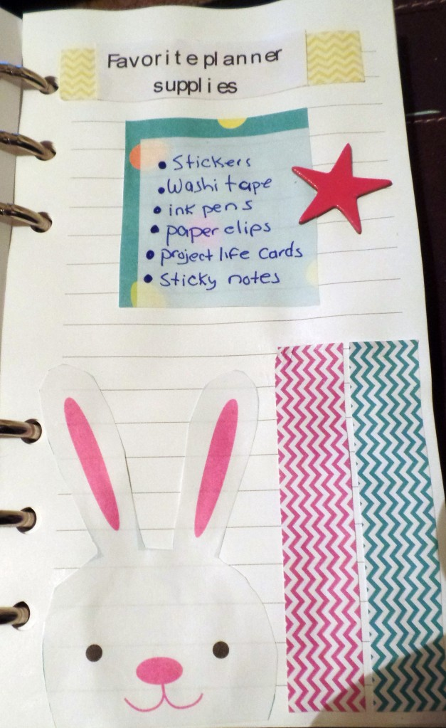 fave planner supplies