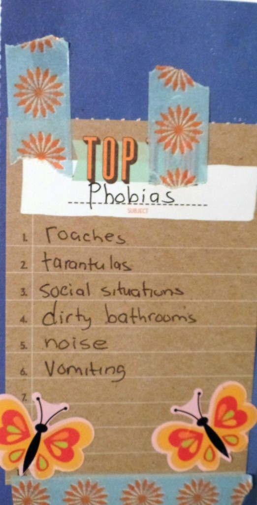 some of my phobias