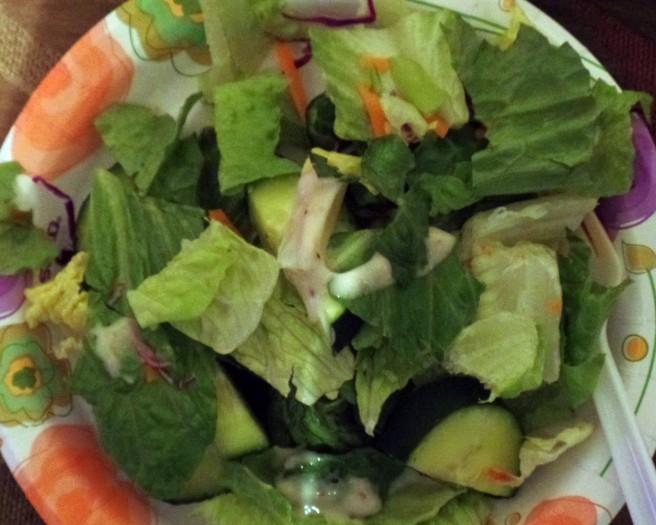salad with dinnner